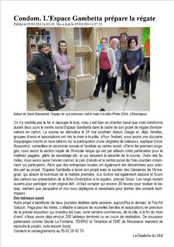 1403SB-La Dépêche 05 03 2014