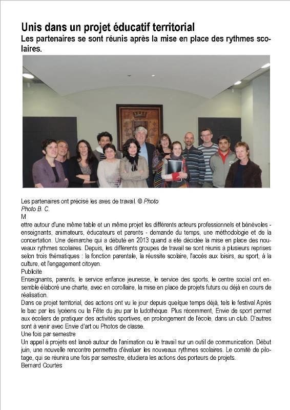 SI- Article du Sud Ouest 24 03 2014