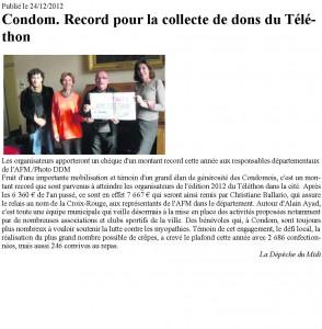 article téléthon