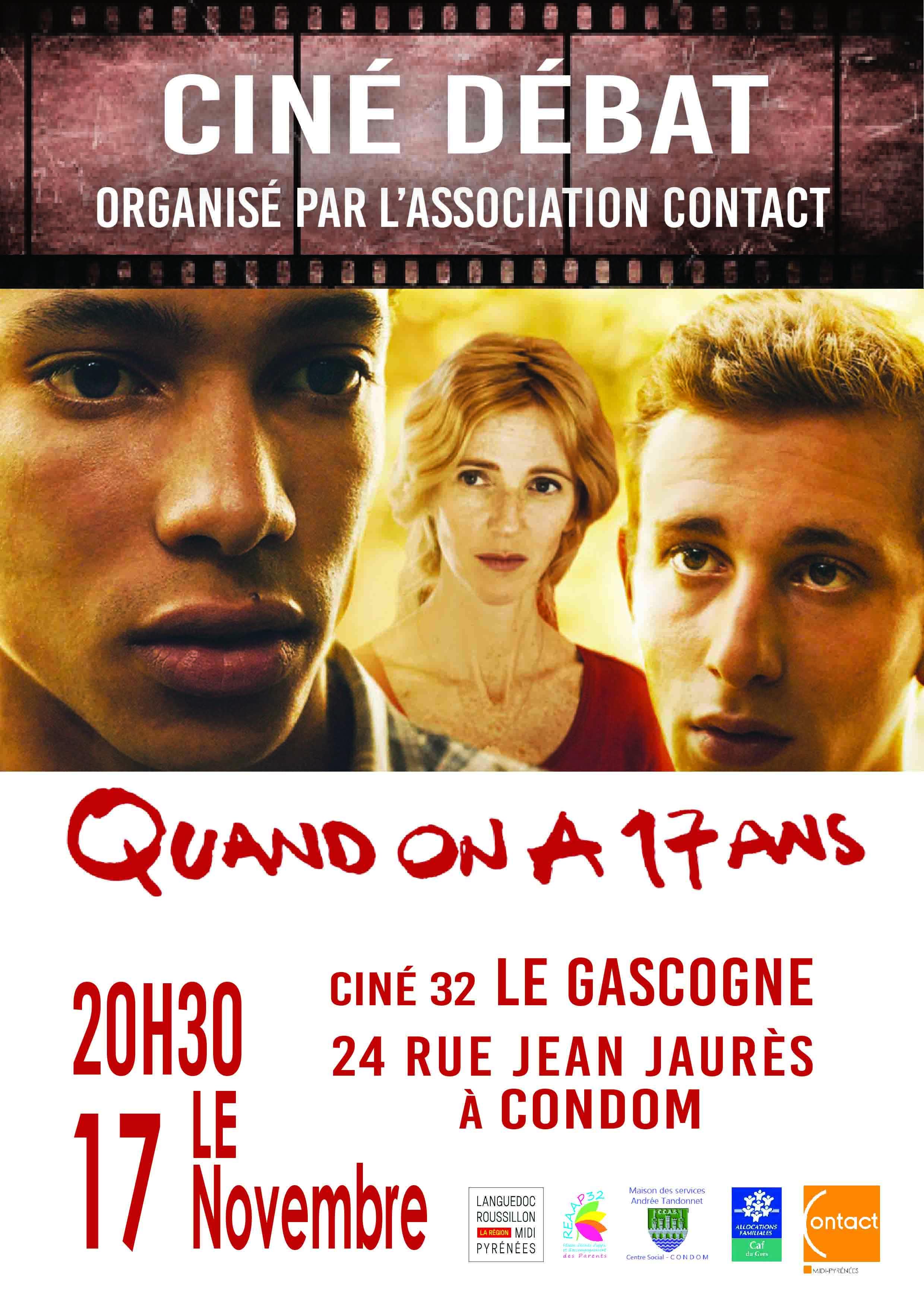cine-debat-condom-17-novembre-20h30-film-quand-on-a-17-ans