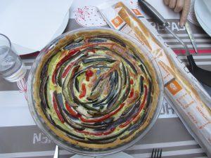 tarte aux légumes en spirale